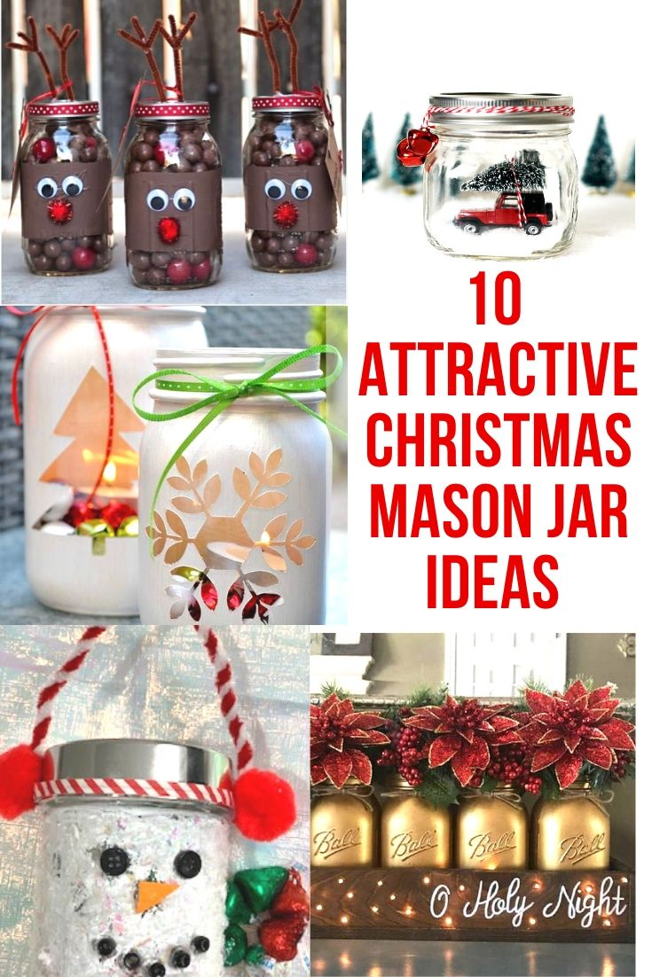 10 Attractive Christmas Mason Jar Ideas Brightkidfun
