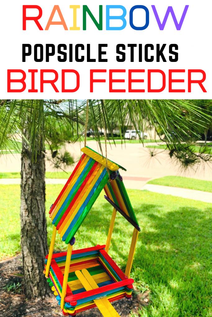 popscicle sticks birdfeeder