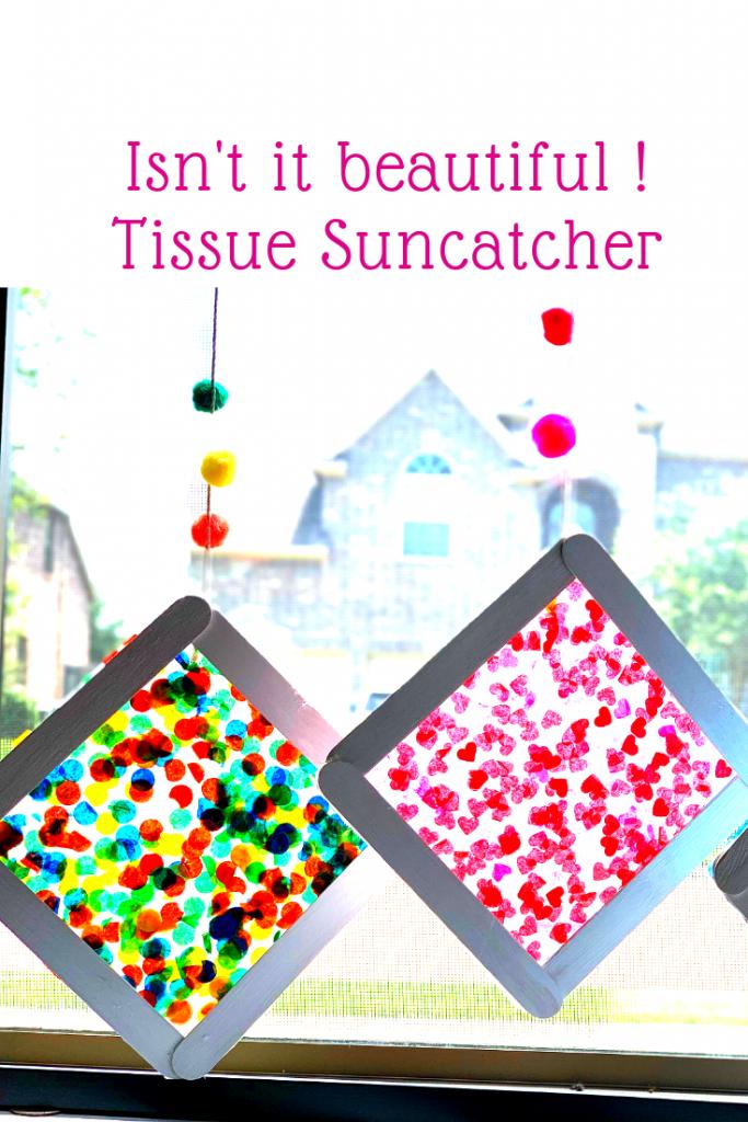 Tissue papper suncatcher