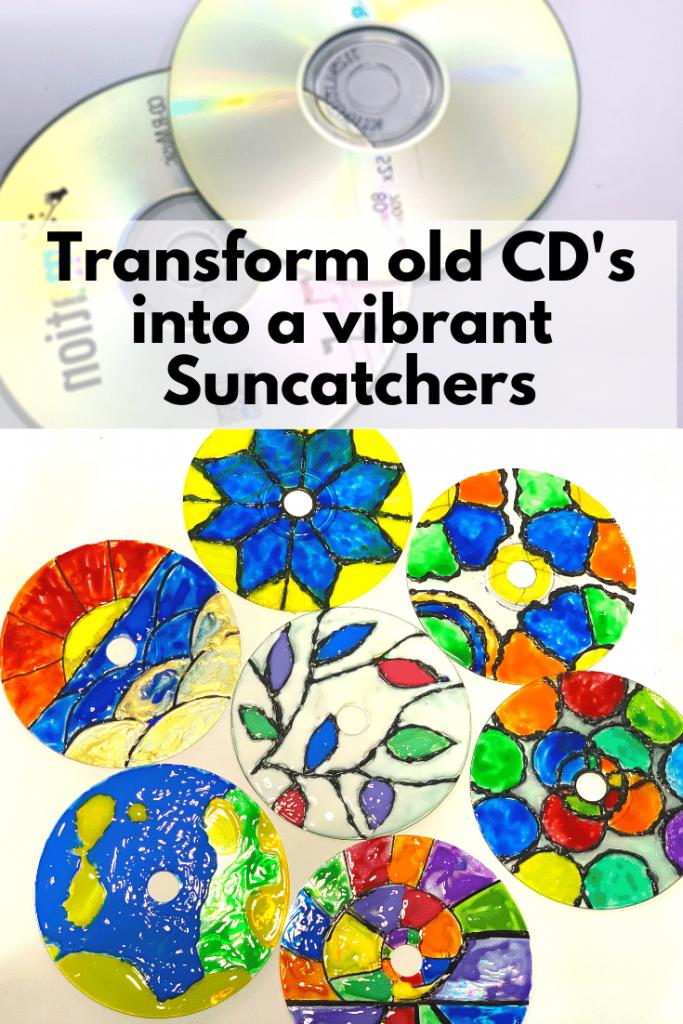 cd suncatcher old recycle Cd's